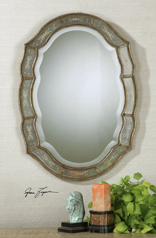 mirror in the bathroom fifi uttermost fifi beveled mirror amp reviews wayfair ca 23772