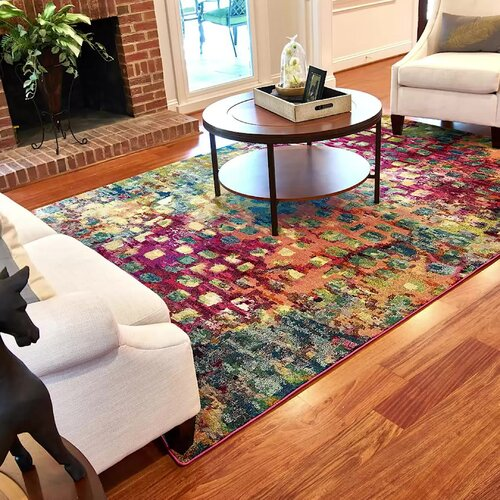Bungalow Rose Massaoud Machine Woven Area Rug & Reviews