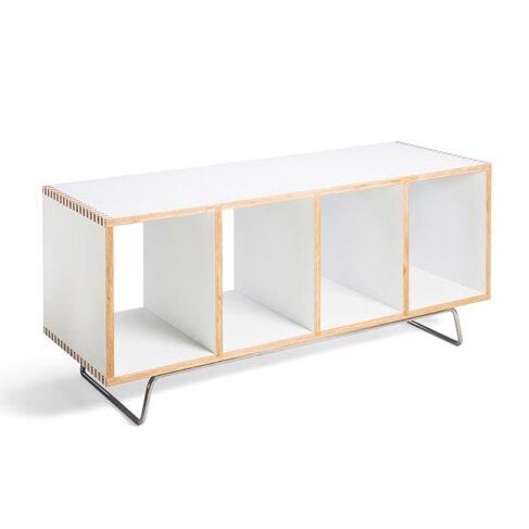 Birch Plywood Storage Bench Amp Reviews Allmodern