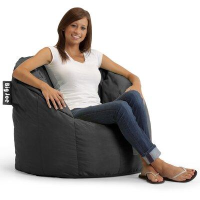 Big Joe Milano Bean Bag Chair Comfort Research Upholstery: Stretch Limo Black