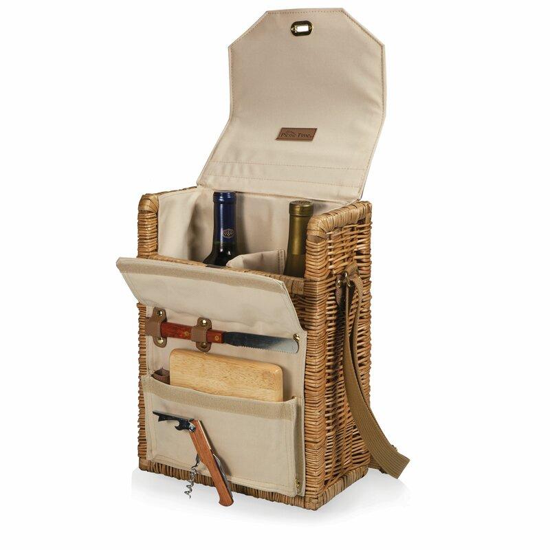 picnic time corsica wine  u0026 cheese picnic basket  u0026 reviews
