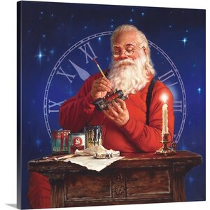 Christmas Art 'Finishing Touches' by Mark Missman Painting Print on Wrapped Canvas