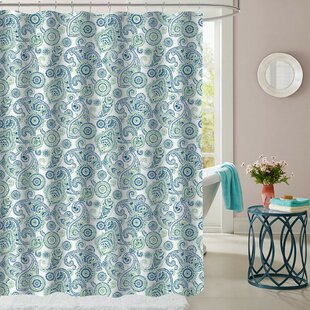 Hollen Modern Paisley Polyester Single Shower Curtain
