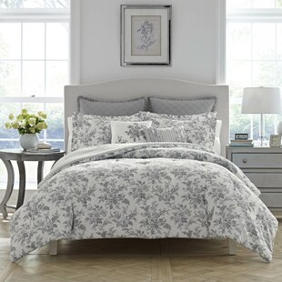 annalise 100 cotton reversible comforter set by laura ashley home - Toile Bedding
