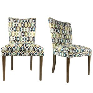 Alex Fan Back Upholstered Parsons Chair (Set of ..