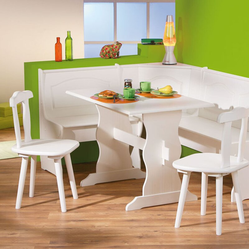 Dining Sets With Storage: AlpenHome Wamsutter Corner Dining Set With 2 Chairs And