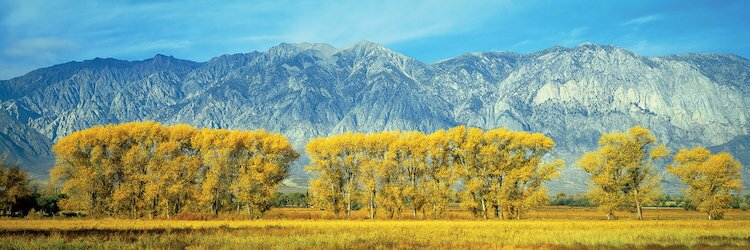 Autumn Landscape, U S  Route 395, Sierra Nevada Range, California, USA  Photographic Print on Wrapped Canvas