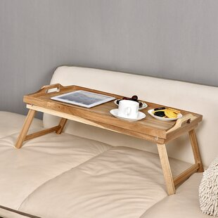 Exceptionnel Acacia Breakfast Bed Serving Tray With Handle Foldable Leg