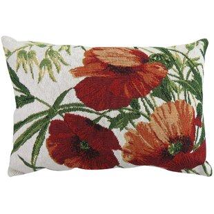Poppies Tapestry Decorative Lumbar Pillow