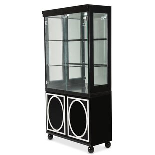 Sky Tower Lighted China Cabinet