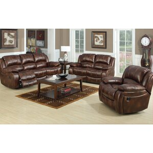 Bryden Leather Reclining Loveseat by Loon Peak