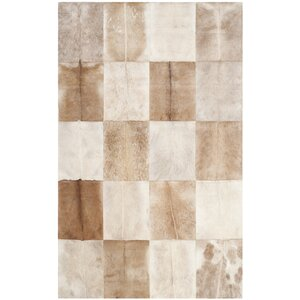 Sequoyah Hand-Woven Natural Cowhide Area Rug