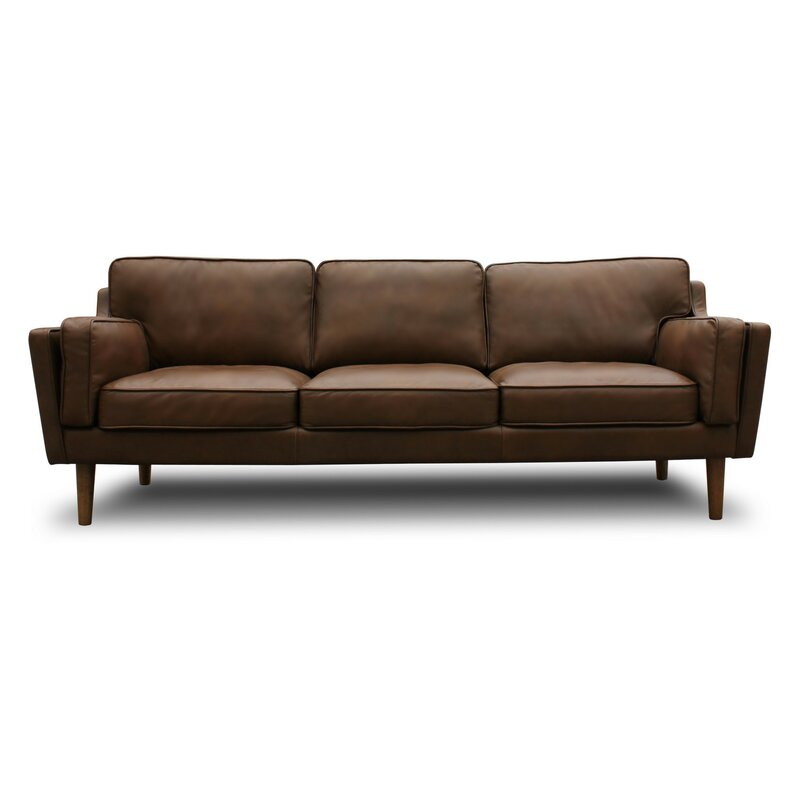 Merveilleux Kaufman Mid Century Modern Leather Sofa