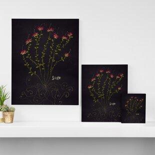 herb garden sage graphic art on wrapped canvas - Wall Herb Garden