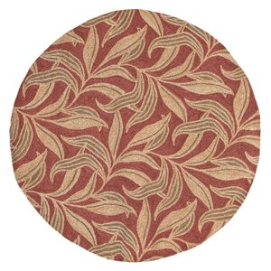 Demirhan Red Leaf Outdoor Rug