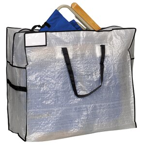 Storage and Organization Large Tote Bag with Black Trim
