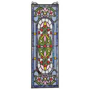 Stained glass panels you 39 ll love wayfair - Eco friendly large glass windows offering effective energy savings for contemporary residence ...