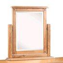 Flutet Rectangular Dressing Table Mirror