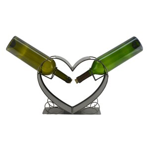 Heart 2 Bottle Tabletop Wine Rack by Three Star Im/Ex Inc.