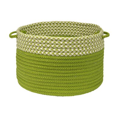Brayden Studio Ariadne Dipped Basket Size: 14 H x 24 W x 24 D, Color: Lime