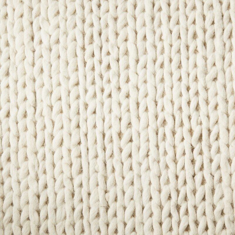 Mercury Row Dunfee Chunky Hand Woven Wool Off White Area