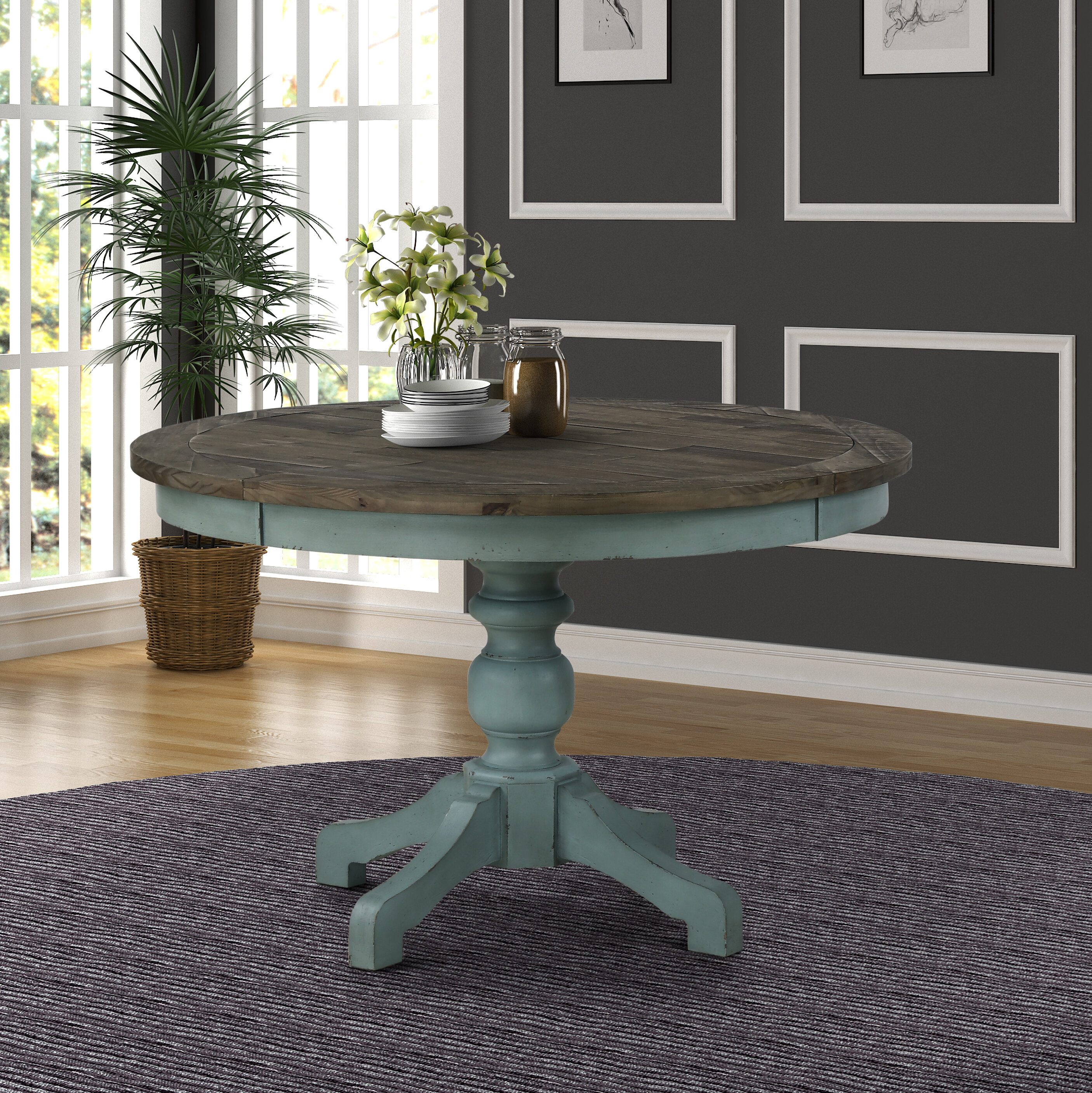 Gentil Cierra Two Tone Dining Table