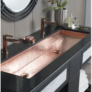 bathroom double trough sink wayfair. Black Bedroom Furniture Sets. Home Design Ideas