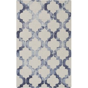 West Harptree Beige/Blue Area Rug
