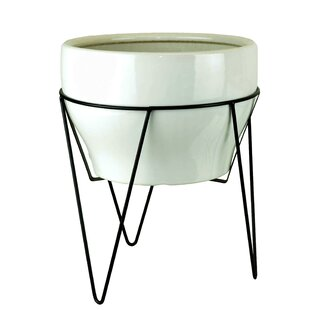 Modern Contemporary White Pot With Stand Allmodern