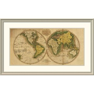 World map magnetic wayfair world map framed print gumiabroncs Images