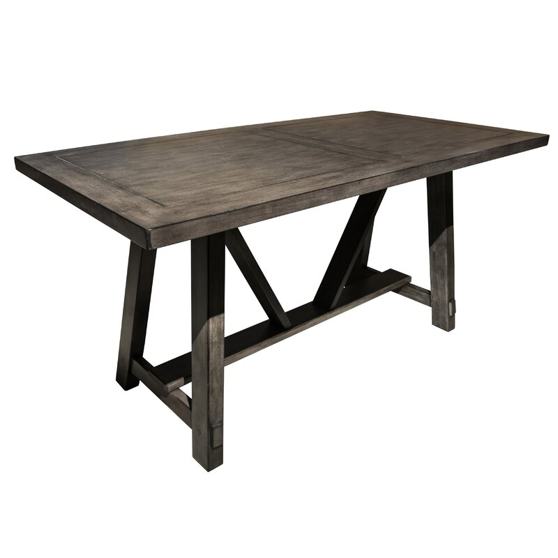 Gracie Oaks Leming Farmhouse Style Trestle Dining Table Reviews