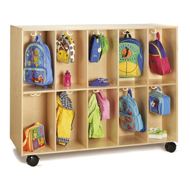 Backpack 10 Compartment Cubby With Casters