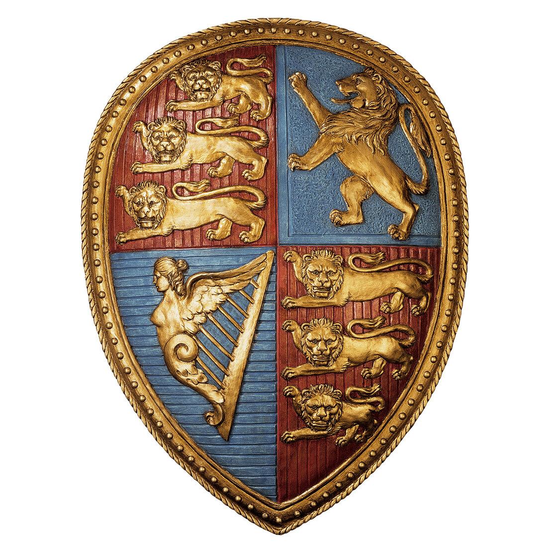 Design Toscano Queen Victoria S Royal Coat Of Arms Shield Wall Décor Reviews Wayfair