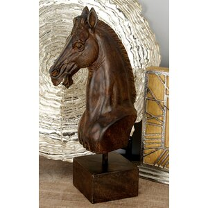 Polystone Horse Head Figurine