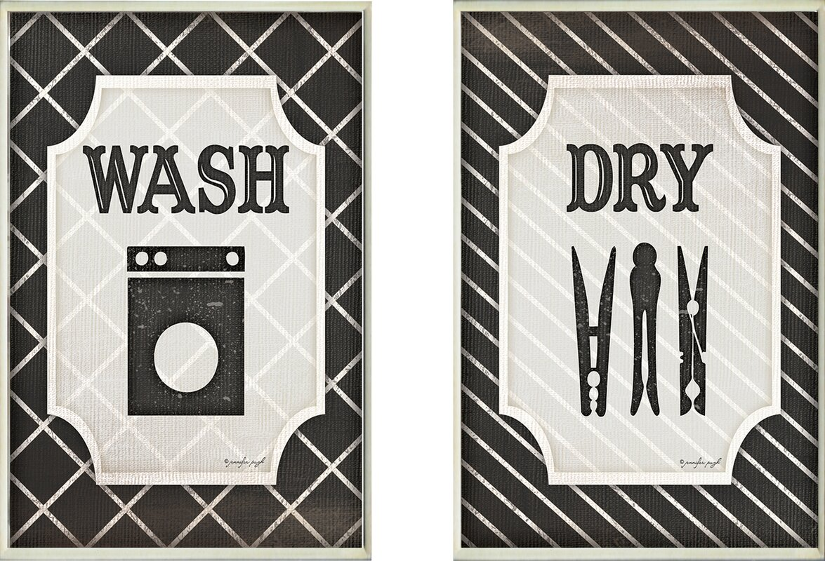 Laundry Wall Plaque Inspiration Laurel Foundry Modern Farmhouse Wash And Dry' Black And White Design Ideas