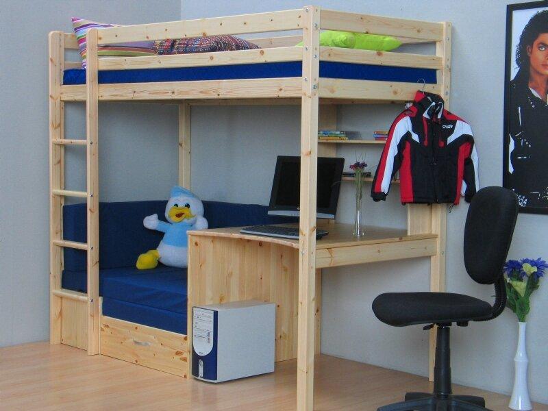 Etagenbett Couch : Viv rae hochbett devin kids mit couch cm wayfair