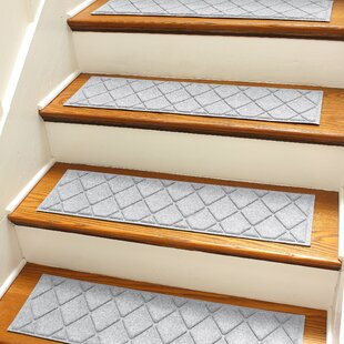 Superior Aqua Shield Gray Argyle Stair Tread (Set Of 4)