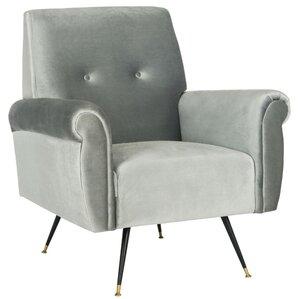 Richardson Retro Mid Century Velvet Armchair