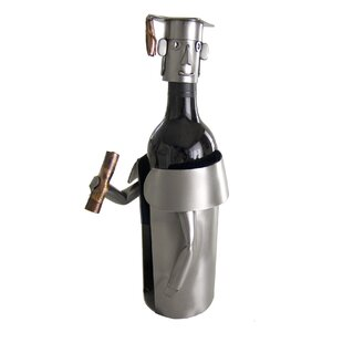 Male Graduate Caddy 1 Bottle Tabletop Wine Rack #1