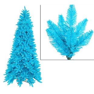 9 sky blue ashley spruce christmas tree with clear and blue lights - Aqua Christmas Tree