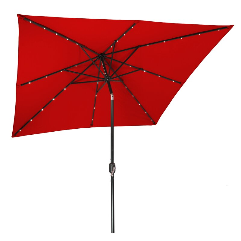Led Umbrella Amazon: Trademark Innovations 8' Square Lighted Umbrella & Reviews