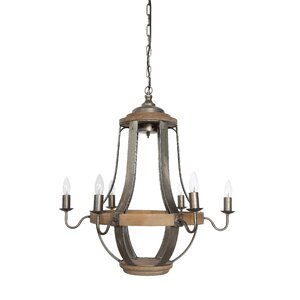 Country 6-Light Candle-Style Chandelier
