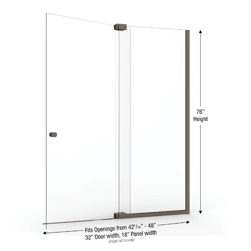 Basco Cantour 48 X 76 Pivot Door And Panel Shower Door Wayfair