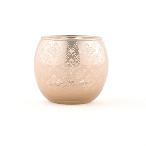 Buy Large Glass Globe Votive Holder with Reflective Lace Pattern (Set of 4)!