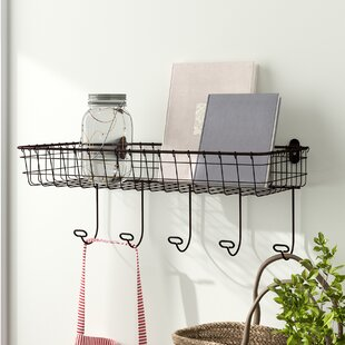 Bathroom Shelf With Hooks Wayfair