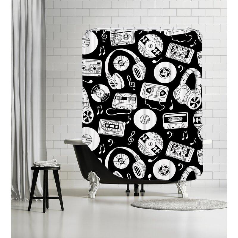 East Urban Home Music Shower Curtain