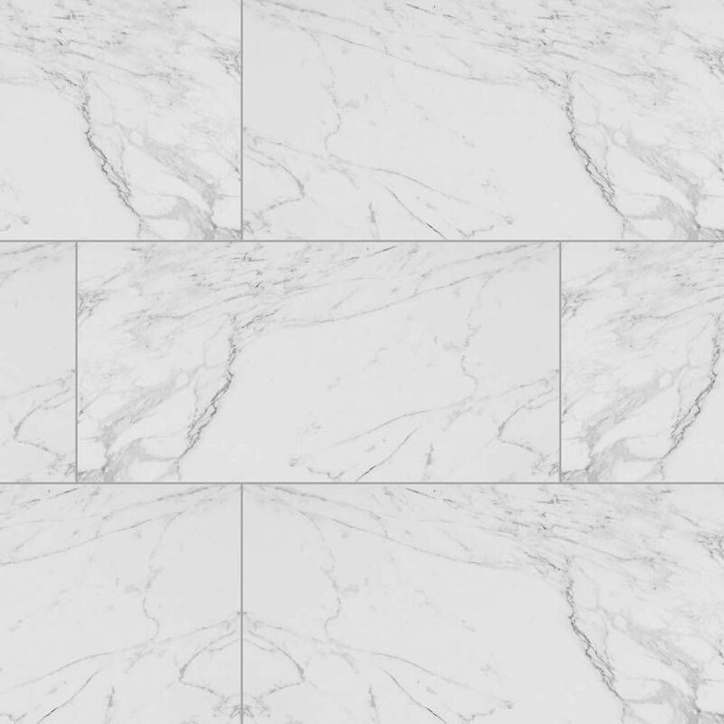 Msi Carrara 12 Quot X 24 Quot Porcelain Field Tile In White