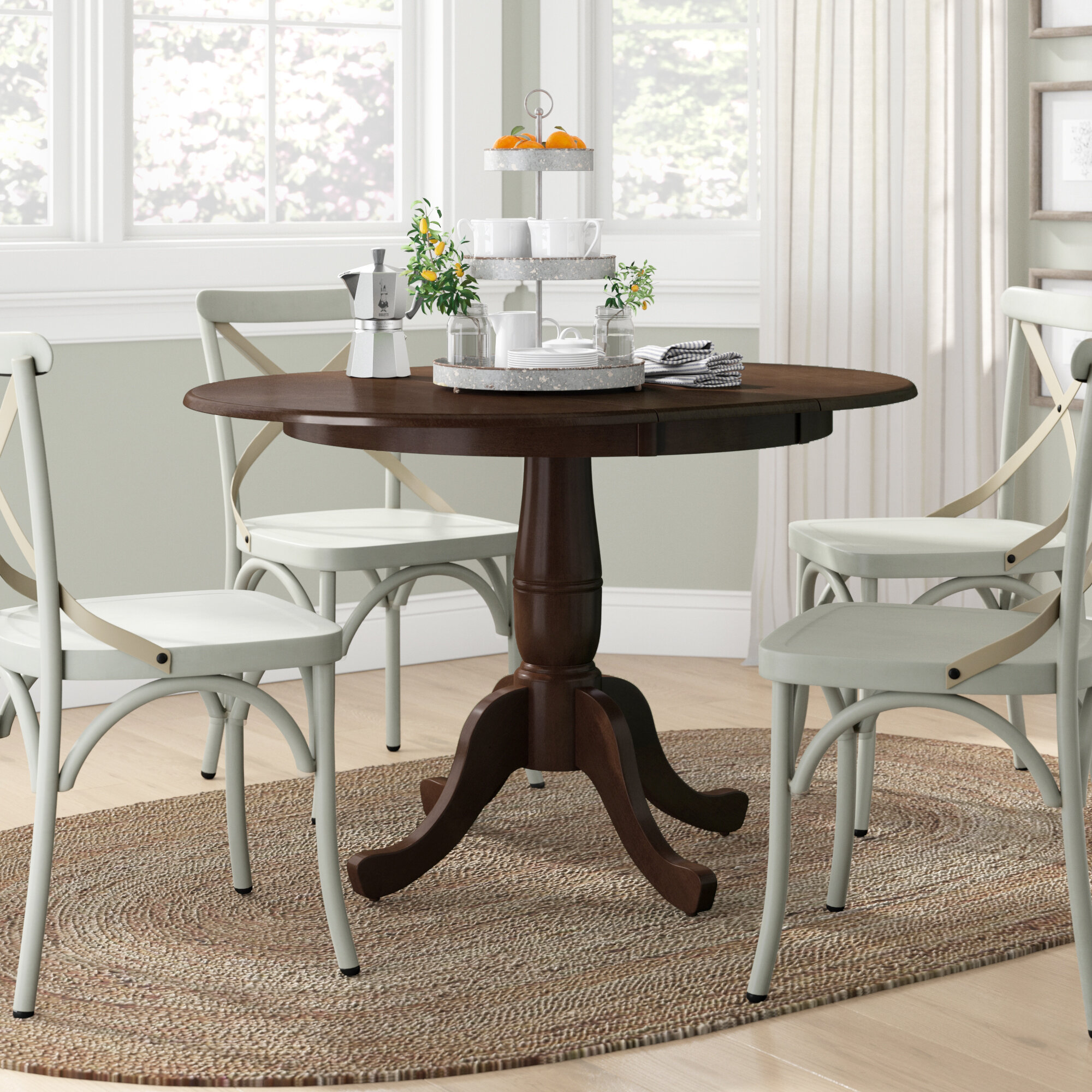 Lark Manor Overbay Extendable Dining Table Reviews Wayfair - Table pads columbus ohio