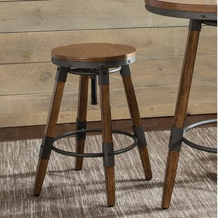 Rustic Adjustable Bar Stool (Set of 2)