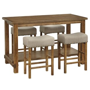 Hendina 5 Piece Pub Table Set